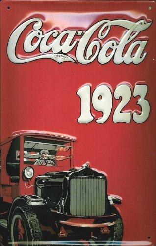 Coca-Cola 3D Vintage Metall Schild Truck 1923 gestanzt Pub Zeichen -