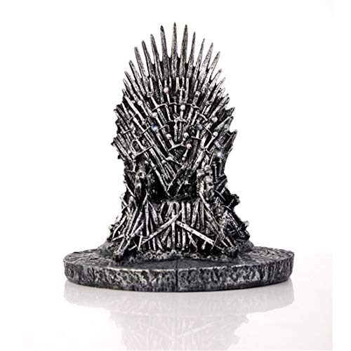 Silver Iron Throne Statue Resin Game of Thrones Sculpture Art Home Table cabinet Art Decor Abstract Desk Figures Office Car decoration, A