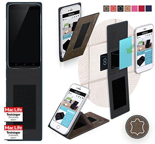 Hülle für Lenovo Vibe X3 Youth Tasche Cover Case Bumper | Braun Wildleder | Testsieger