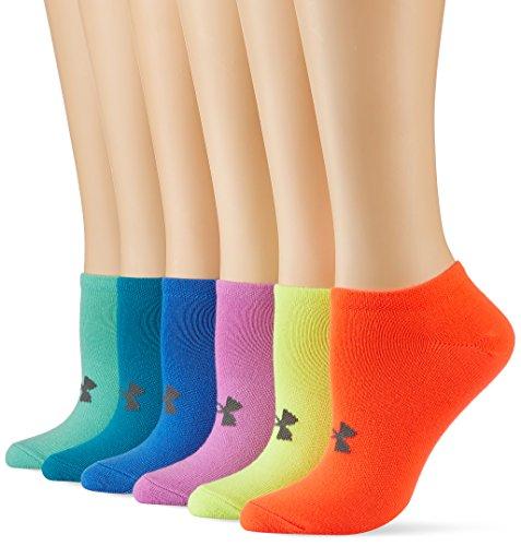 Under Armour Damen Uaw Solid 6 Pks NO Show Socken, X-Ray, M
