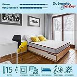 Duermete Colchón Vale Reversible Eliocel (Cara Invierno/Verano) Todas Las Medidas, Muy Transpirable, 90x180