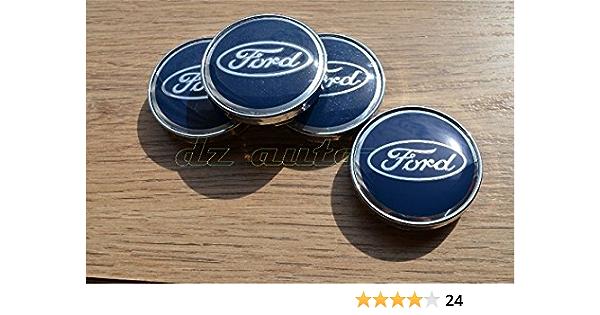 Ford 4 X 60 Mm Radkappenaufkleber Mit Logo 4 X 60 Mm Blau