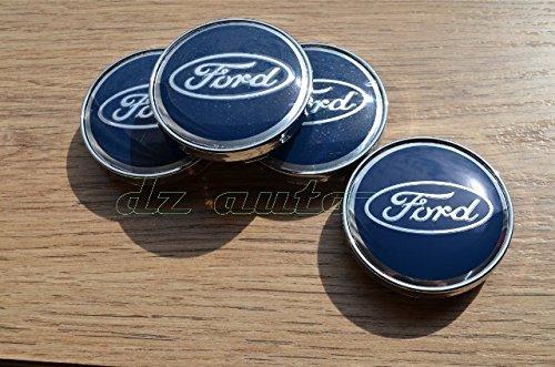 60 mm Ford Juego de 4 tapas centrales de ruedas