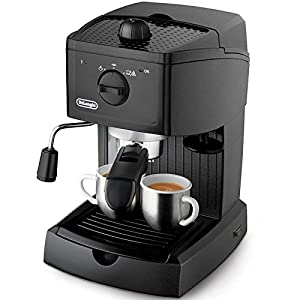 DeLonghi EC 146 Coffee Maker with Cappuccino System, Black