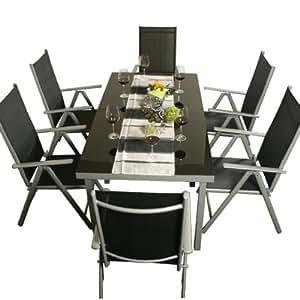 alu sitzgarnitur gartenm bel garnitur sitzgruppe 8 teilig. Black Bedroom Furniture Sets. Home Design Ideas