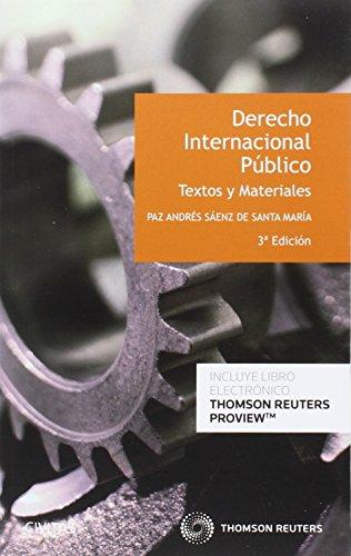Derecho internacional Público. Textos y materiales (3 ed. - 2016) por Paz Andrés Saez De Santamaria
