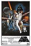 Póster Star Wars 'Episodio IV: Una nueva esperanza' (61cm x 91,5cm) + 2 marcos transparentes...