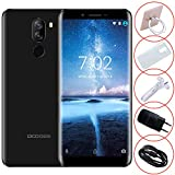 Smartphone Pas Cher, DOOGEE X60L Telephonie Portable 4G Debloqué 5,5 Pouces HD Afficher - Android 7.0-2Go + 16Go - 13MP+8MP Double Caméras - 3300mAh Grande Batterie - Empreinte Digitale - Noir