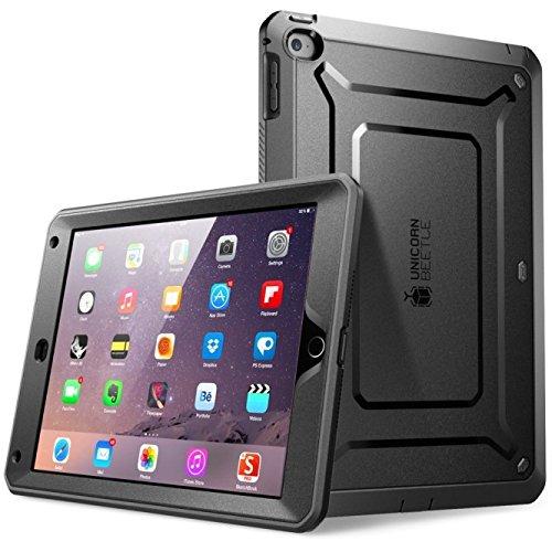iPad Mini 2 Hülle - SUPCASE [Beetle Defense Serie] Gehäuse mit integriertem Displayschutz und schlagfesten Rahmen (Schwarz) (Hülle Für Ipad Mini 2 Von Apple)