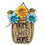 VORCOOL Vintage Holzschild zum Aufhängen, Holz Hängeschild für Haus und Garten Dekor (HOME SWEET HOME)
