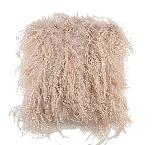 Ysting Cuscino reale struzzo caso pelliccia o un'immagine (45x45CM) - Faux Struzzo