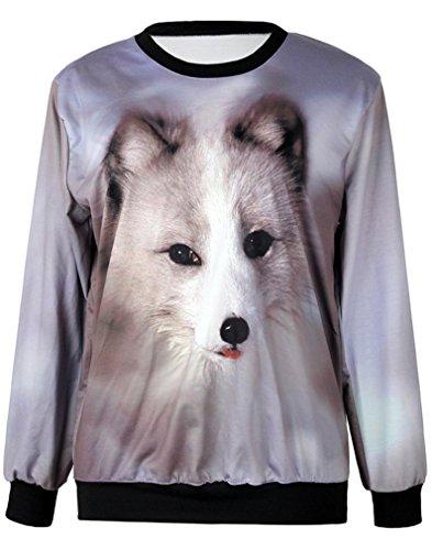 THENICE Women'Pullover Sweatershirts Digital Print Braun - Puppy