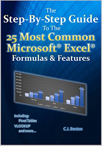 The Step-By-Step Guide To The 25 Most Common Microsoft Excel Formulas & Features (The Microsoft Excel Step-By-Step Training Guide Series Book 1) (English Edition)