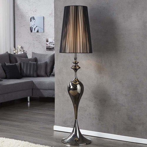 lounge-zone Extravagante Design Stehlampe LUCIE schwarz 140cm 11001