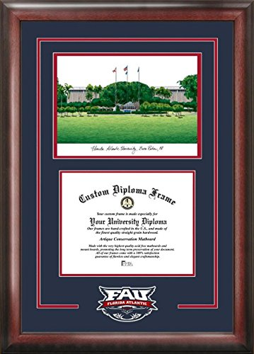 CAMPUS Bilder Florida Atlantic University Geist Graduate Rahmen, Multi, 21,6 x 27,9 cm