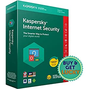 Kaspersky Internet Security 2018- Multi-Device- 3 Users, 1 Year (CD) (Chance to win Rs.1000 Amazon Gift voucher)