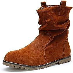 4d70526b26bdd KOUDYEN Mujer Ante Zapatos Antideslizante Boots Botines Botas (EU41