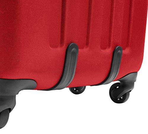 Eastpak Tranzshell M Koffer, 67 cm, 56 L, Knit Grey Apple Pick Red