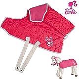 Barbie Pferdedecke, 2 Seiten, Fleece und Steppdesign, mit Barbie Emblem: für Plüschpferd Steppdecke Kinder Reitpferd Decke Stalldecke