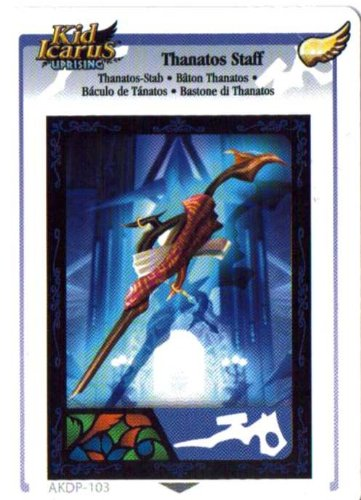 Kid Icarus Uprising AKDP Thanatos Staff Gold Wing Rare Card [Toy]