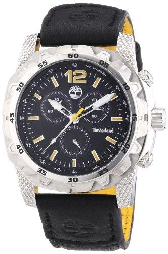 Timberland TBL.13318JS/02A - Reloj analógico de cuarzo para hombre con correa de piel, color negro
