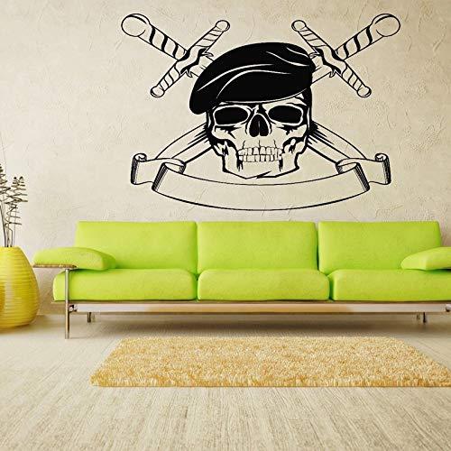 zte Schädel Grim Wandaufkleber Für Wohnzimmer Halloween Dekoration VinylWandtattoosSchlafzimmer Kunst Poster57X42 cm ()