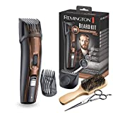 Remington MB4045 - Kit Recortador de Barba, 5 Accesorios y Barbero, Inalámbrico, Litio, Lavable, Negro y Marrón