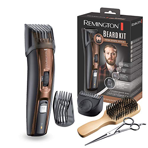 Remington MB4045 - Kit Recortador de Barba, 5 Accesorios y Barbero, Inalámbrico, Litio, Lavable, Negro...