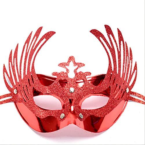 Ndier Halloween Ball Maske Kronprinzessin oder Maskerade Prinzessin Maske (Rot) 1 STÜCK