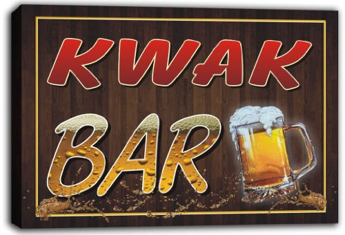 scw3-008280-kwak-name-home-bar-pub-beer-stretched-canvas-print-sign