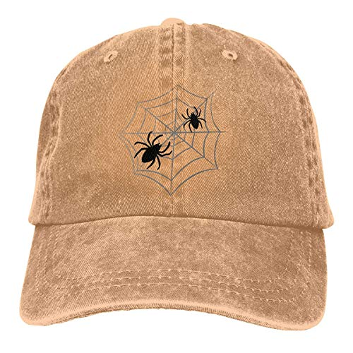 SKIJJINM Cowboy Hat Halloween Spider Black Denim Skull Cap Baseball Cowgirl Sport Hats for Men Women (2019 Halloween Everyday Is)