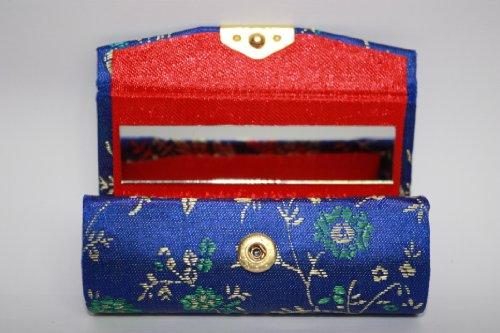 one-blu-elettrico-blu-royal-seta-tessuto-broccato-custodia-con-oro-e-verde-blu-effetto-seta-con-spec