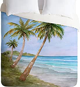 DENY Designs Rosie Brown Swaying Palms Lightweight Duvet Cover, Twin