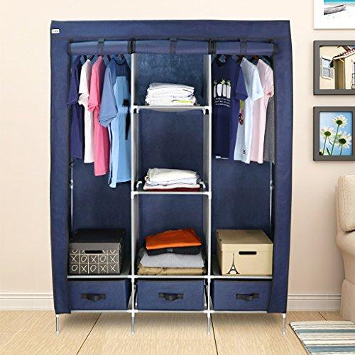 finether stoffschrank kleiderschrank stoff garderobenschrank faltschrank stoffkleiderschrank. Black Bedroom Furniture Sets. Home Design Ideas