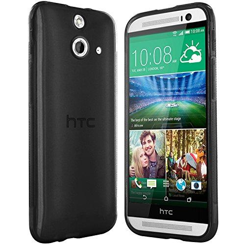 moodie Silikonhülle für HTC One E8 Hülle in Schwarz - Case Schutzhülle Tasche für HTC One E8 (2014 Version)