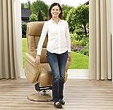 aktivshop Aufstehsessel Fernsehsessel Massagesessel mit elektrischer Aufstehhilfe, Wärmefunktion & Massage, Drehbar || Sanftes Aufstehen & Hinsetzen (Cappuccino) - 2