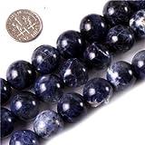 Sweet & Happy Girl'S Store 14mm Round Gemstone Sodalite Stone Beads Strand 15 Inch Jewellery Making Beads