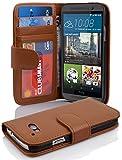 Cadorabo Carcasa para HTC One (M9) móvil en Color marrón coñac Teléfono Móvil con Tarjeta de...