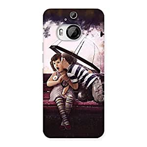 Cute Kid Kiss Back Case Cover for HTC One M9 Plus