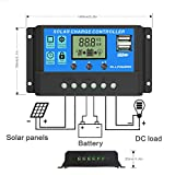 Techtest 10 Amp 24v 12v Solar Charger Controller Cum with Digital Pwm and Display Inverter Battery Panel for Power Charge