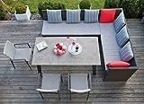 riesige Garten Sitzgruppe Lounge mit Esstisch Eckbank Stuhl uvm