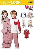 New Look Schnittmuster Nr. nl6337Pyjama und Bademantel Kinder 22x 15cm
