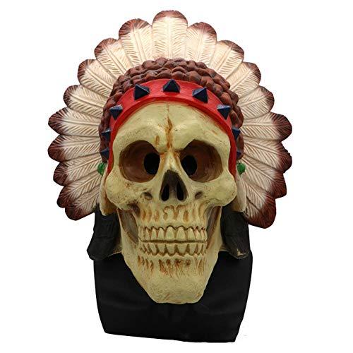 LJSHU Halloween Schädel Maske Neuheit Halloween Zombie Biochemische Krise Maske Prom Party Dekoration (Bemalen Für Halloween-schädel Gesicht)