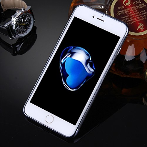 DaYiYang Für iPhone 7 Plus Spiegel TPU Schutzhülle Case Anti-Rutsch Verschleiß-resistent ( Color : Gold ) Black