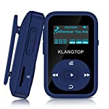 Mini MP3-Player Sport Bluetooth 4.0 mit Clip klangtop Musik-Player 8 G 30 Stunden Wiedergabe – blau