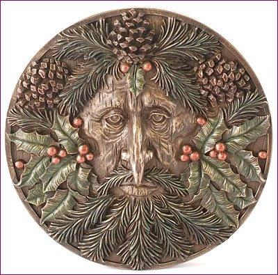 Nemesis Now Plaque murale en bronze Homme vert Yule