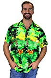 Funky Camisa Hawaiana, Surf, green, 3XL
