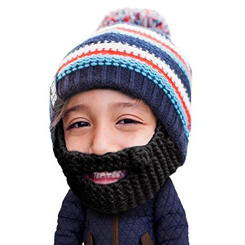 Beard Head Kinder Gromm Bartmütze – Lustige Strickmütze und Falscher Bart für Kinder