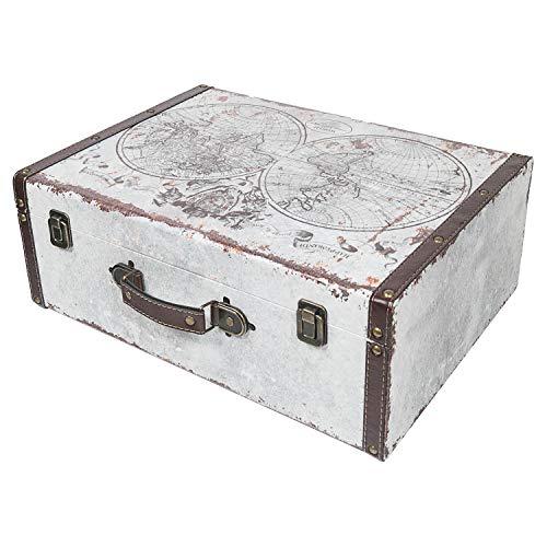 HMF 6430-144 Koffer Vintage | Holz Aufbewahrungsbox | Design Welt | 44 x 32 x 16 cm