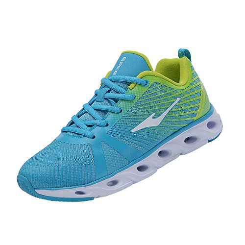 Erke Women's Real Flex Running Shoes Blue/Green 12116103177